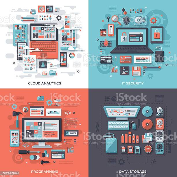 Tech it security flat design concepts vector id532415040?b=1&k=6&m=532415040&s=612x612&h=cfoxx8o80gx3b0bs9dawdrsfzlk1muio5vmafiwgik0=