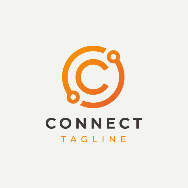 Tech Letter C Logotype Icon Design Template. Technology Abstract Line Connection Circle Vector Logotype. Simple creative template. Tech Letter C Logotype Icon Design Template. Technology Abstract Line Connection Circle Vector Logotype. Simple creative template. logo stock illustrations