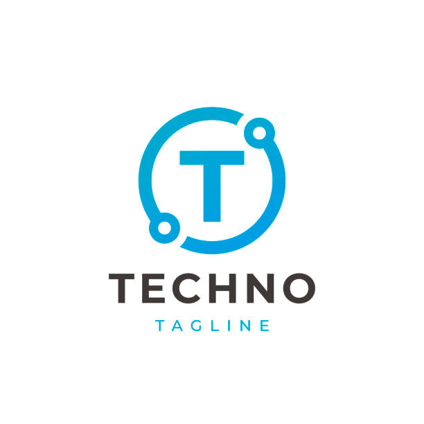Tech Letter T Logotype Icon Design Template. Technology Abstract Line Connection Circle Vector Logotype. Simple creative template. Tech Letter T Logotype Icon Design Template. Technology Abstract Line Connection Circle Vector Logotype. Simple creative template. letter t stock illustrations