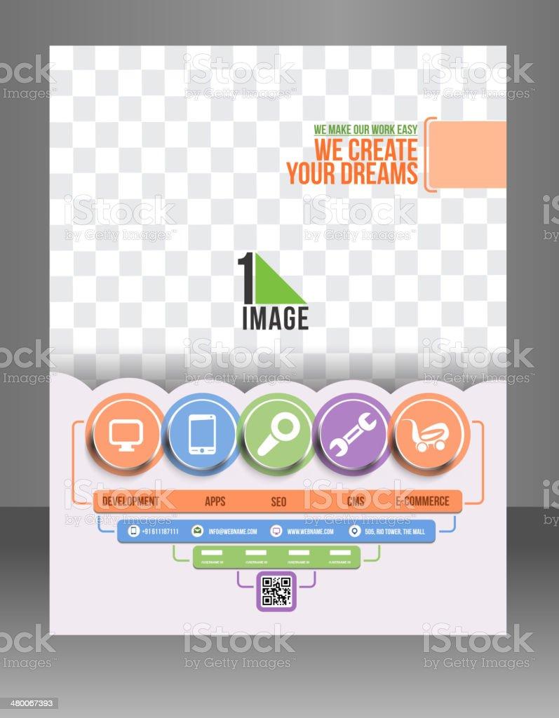 Tech Support Flyer Template.