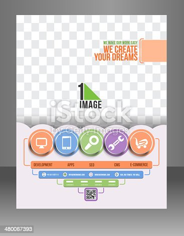 Tech Support Flyer Template Stock Vector Art & More Images of Adult ...