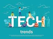 Tech trends concept illustration