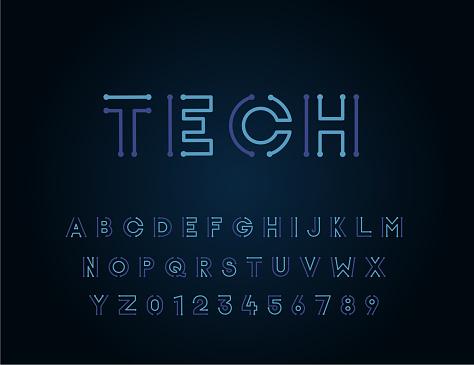 Vetores de Projeto Exclusivo Da Tecnologia Vector Fonte Tipo De Letra Para Tecnologia Circuitos Engenharia Digital Jogos Ficção Científica E Ciência Indivíduos e mais imagens de Arranjar