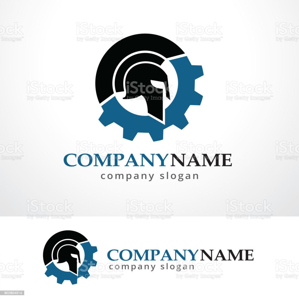 tech warrior symbol template design vector emblem design concept