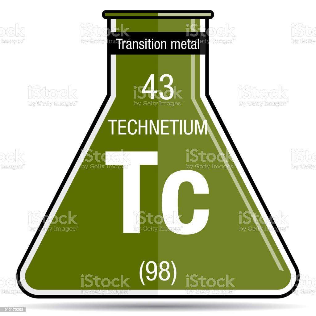 Technetium symbol on chemical flask element number 43 of the technetium symbol on chemical flask element number 43 of the periodic table of the elements urtaz Images