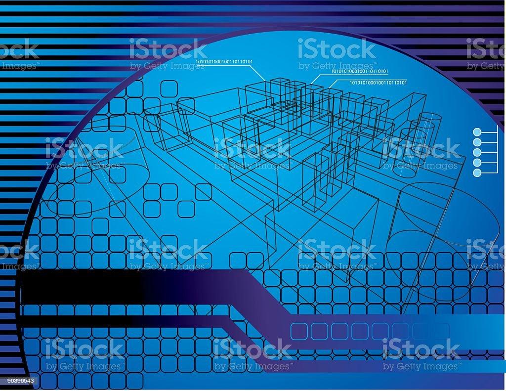 技術的背景 - 3Dのロイヤリティフリーベクトルアート