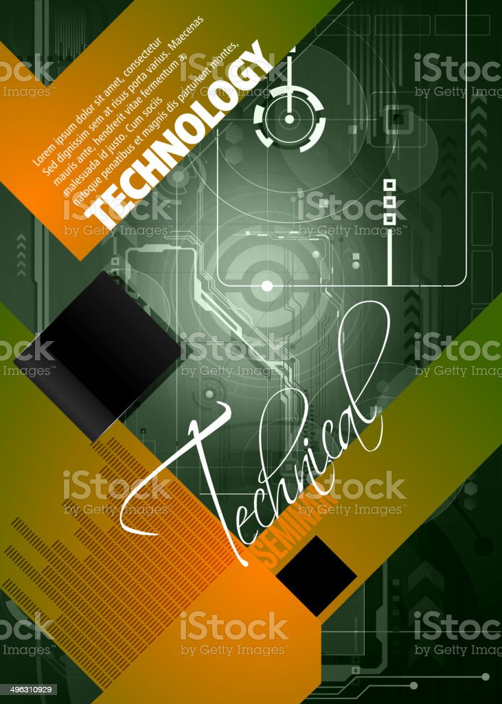 Technical Background with Copy space royalty-free stock vector art