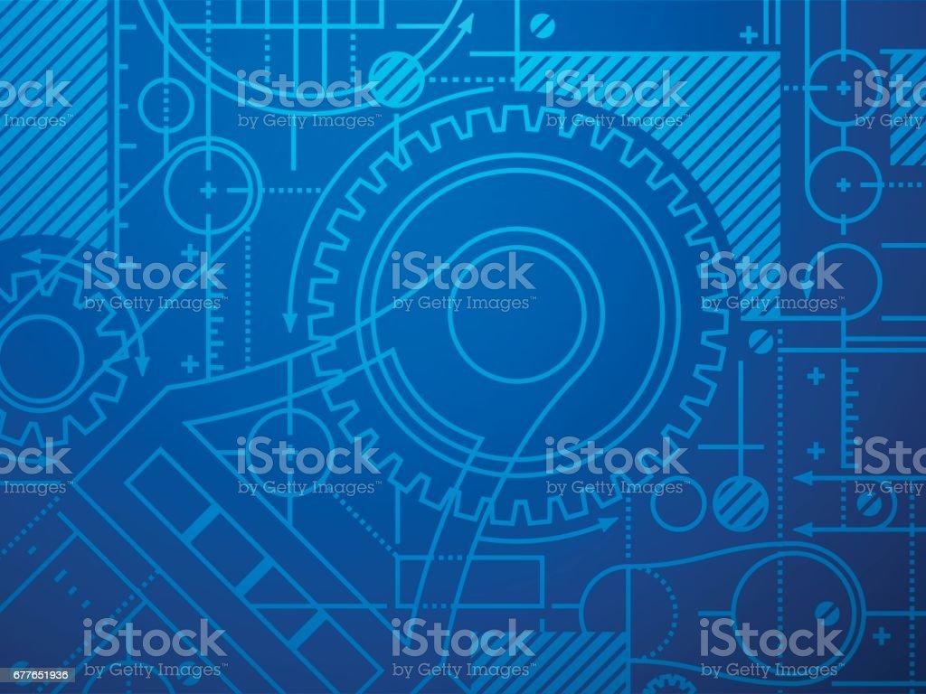 Technische Blaupause Abstrakten Hintergrund Stock Vektor Art und ...