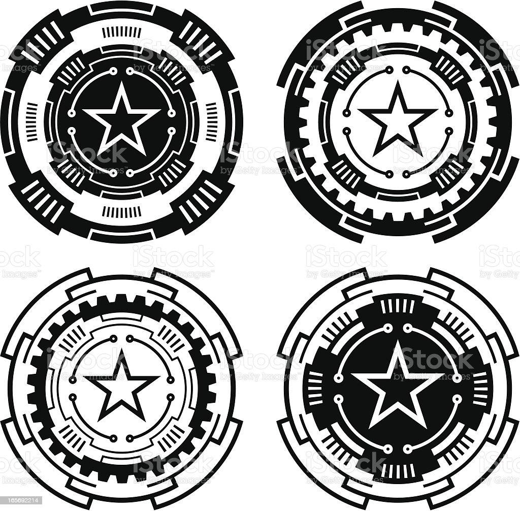 Technical circles royalty-free stock vector art