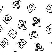 Technical Documentation Vector Seamless Pattern Thin Line Illustration