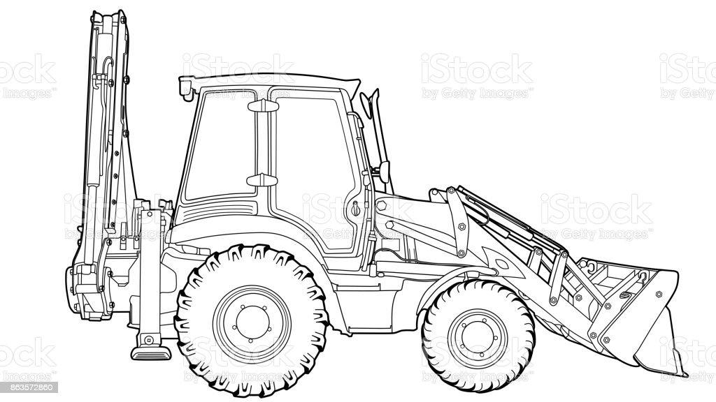 Dessin Technique Du Tracteur Vecteurs Libres De Droits Et Plus D Images Vectorielles De Affaires Istock