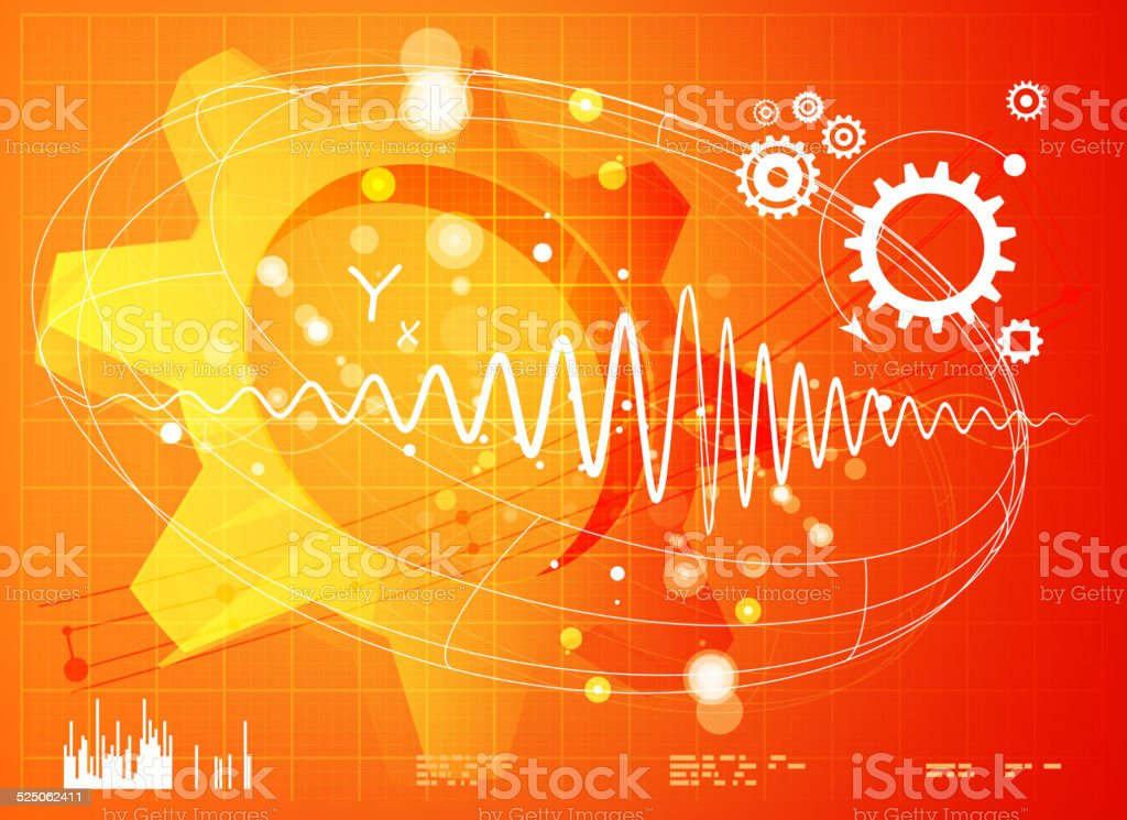 Technical Drawing Abstract - Performance Testing vector art illustration