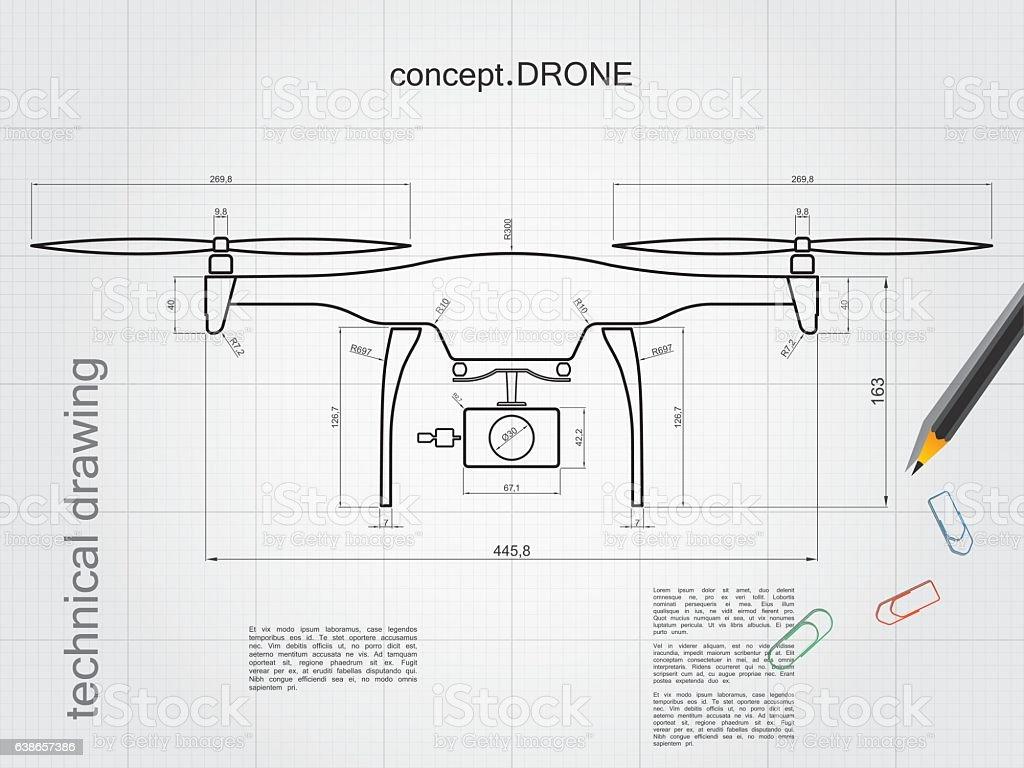Wallpaper Drone Schematic Diagram on