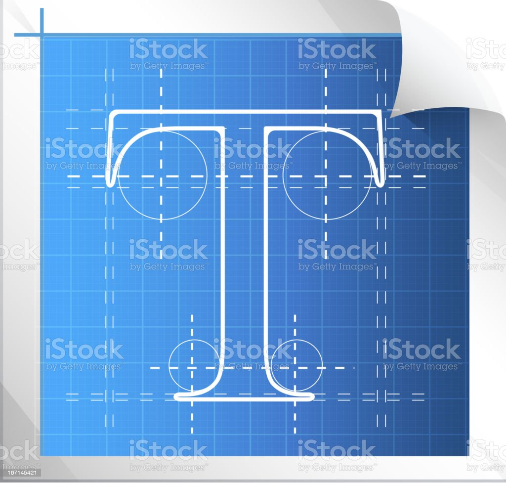 Technical Drawing Fonts vector art illustration