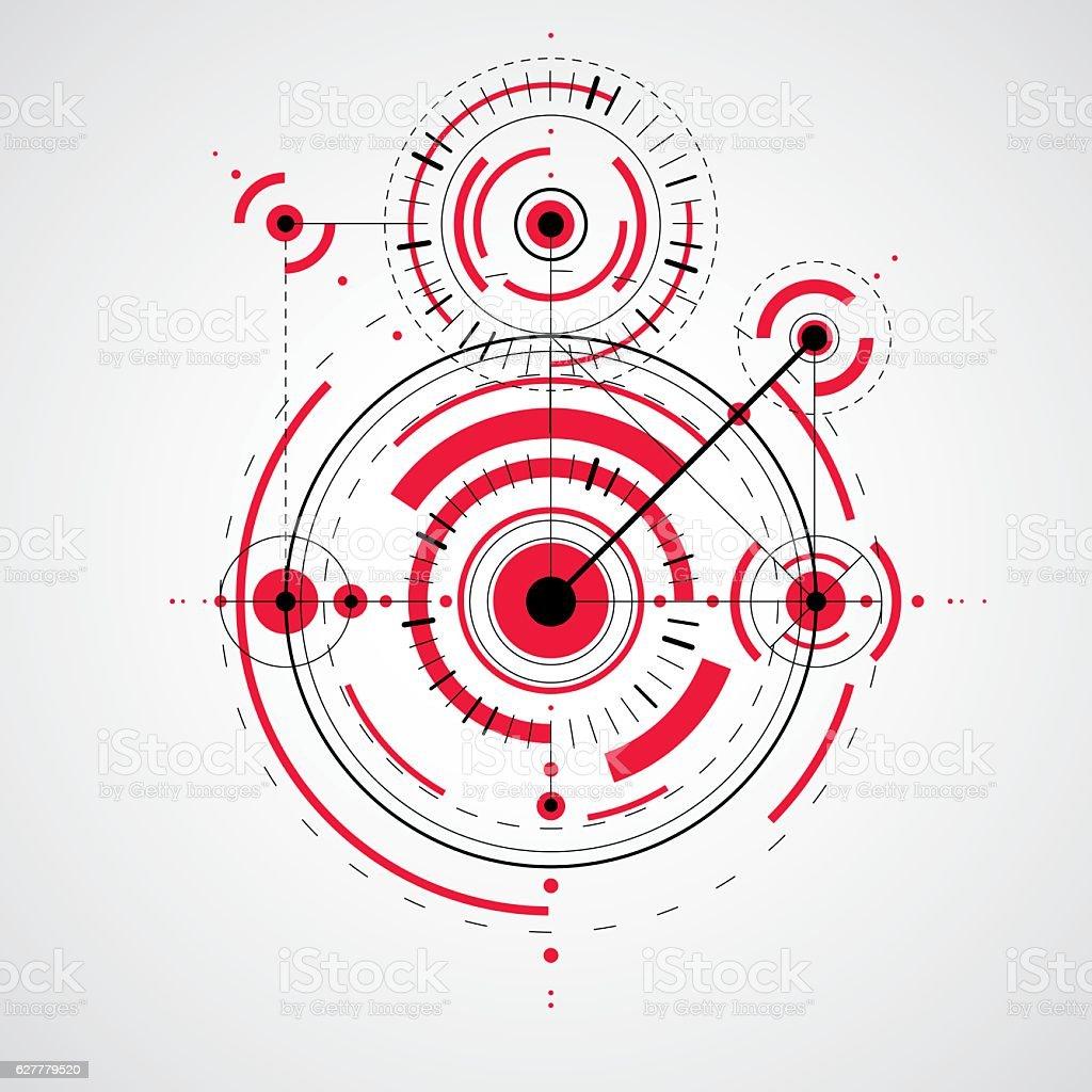 Ilustracion De Tecnica Dibujo Hecho A Traves De Puntos Y Formas