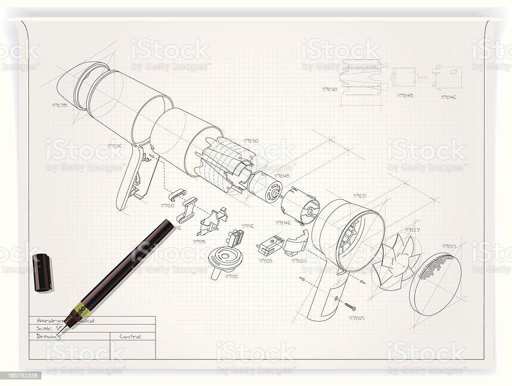 Técnica de ilustración - ilustración de arte vectorial