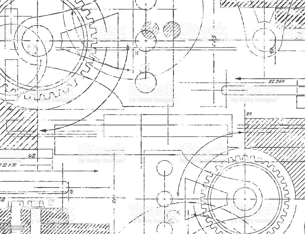 Desenho técnico - ilustração de arte em vetor