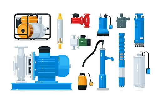 Technical equipment for water pump system isolated set