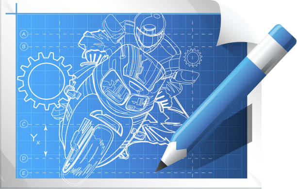 Royalty free motorcycle blueprint clip art vector images technical illustration vector art illustration malvernweather Gallery