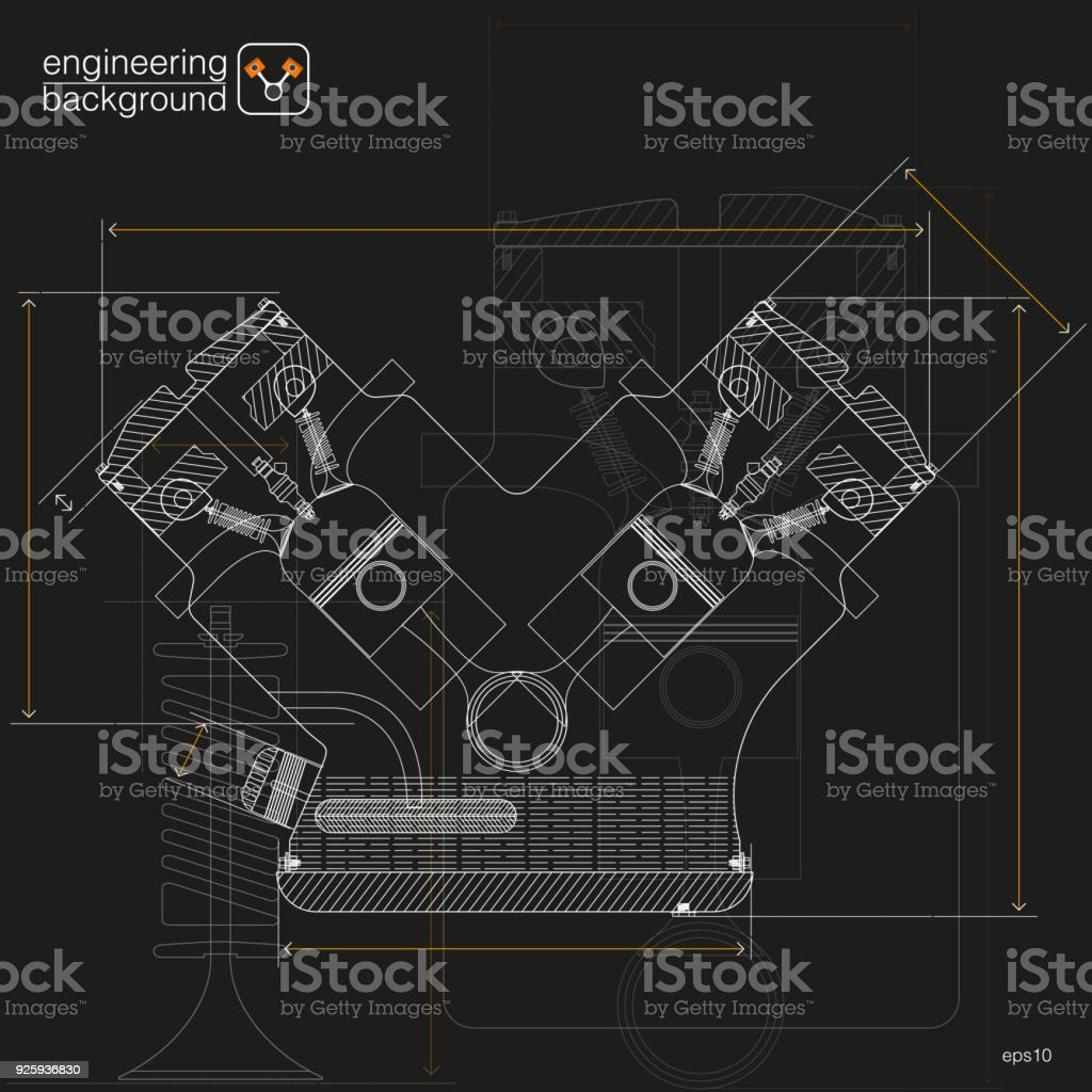 Technical Illustrations Mechanical Engineering The Drawing Stock ...