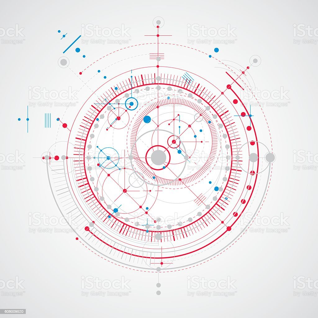 Technical plan abstract engineering draft for use in graphic design royalty free technical plan