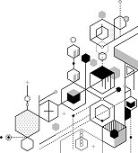 abstract hexagon strategy planning background design