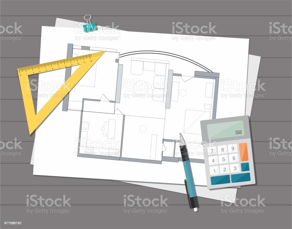 Technical project architect house plan blueprint construction technical project architect house plan blueprint construction background royalty free technical project architect malvernweather Images