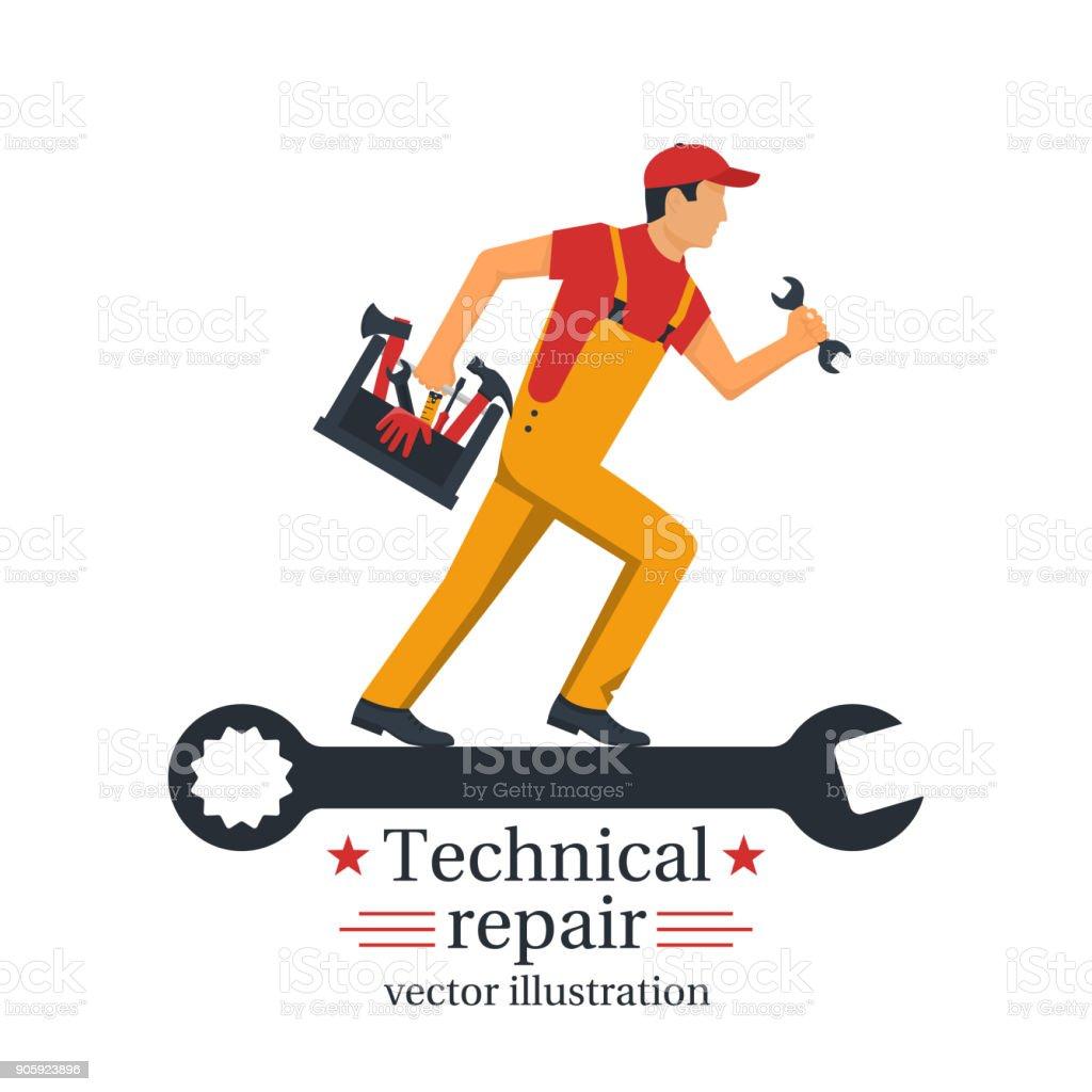 Technical repair vector vector art illustration