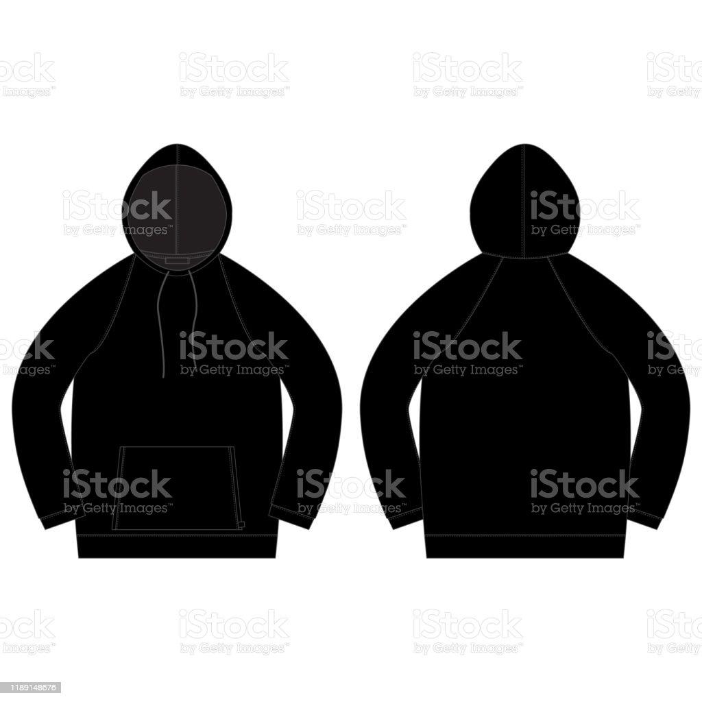 Schwarzer Hoodie Stock Vektor Art und mehr Bilder von