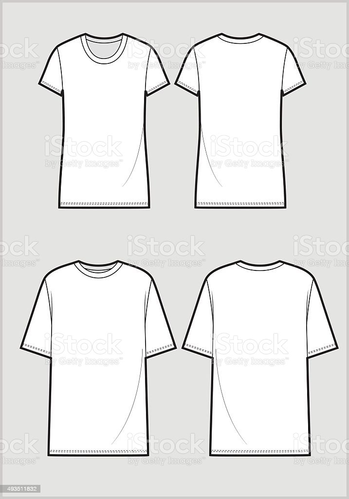 b82434ee8d873 Vetor de Desenho Técnico De Camiseta Branca e mais banco de imagens de 2015