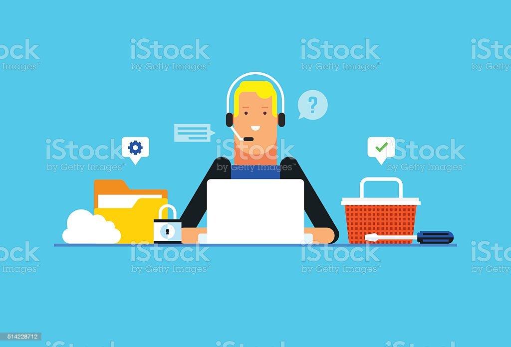 Technische Unterstützung Und Kundenservice Onlinekommunikation ...