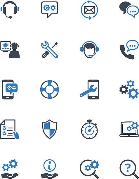 ilustraciones, imágenes clip art, dibujos animados e iconos de stock de técnica de la serie iconos-azul - reparador