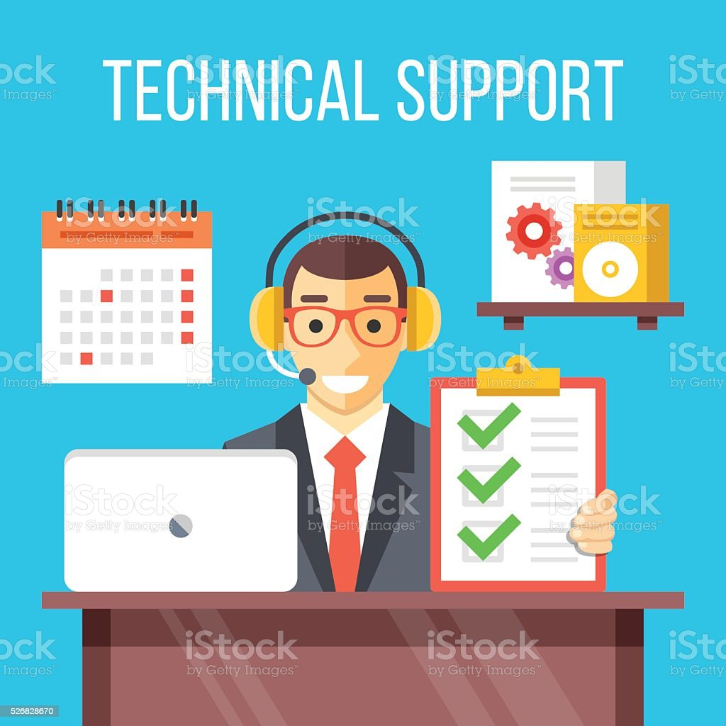 Technical Support Specialist At Work Call Center Agent In Office ...