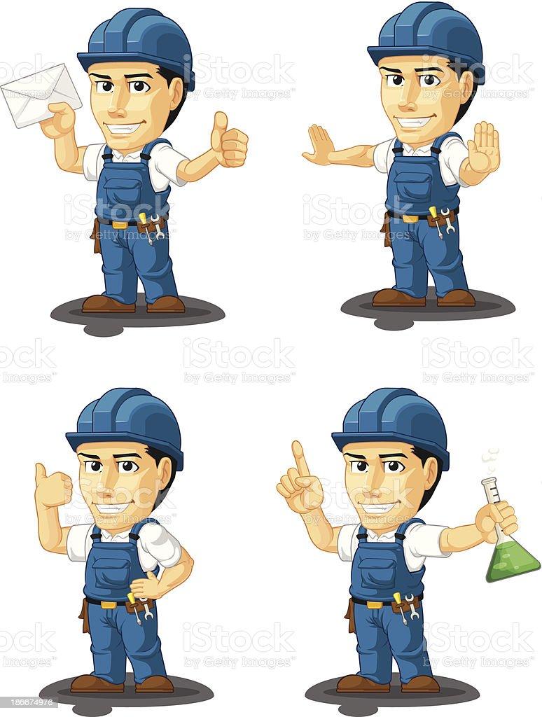Technician or Repairman Customizable Mascot 4 royalty-free technician or repairman customizable mascot 4 stock vector art & more images of adult