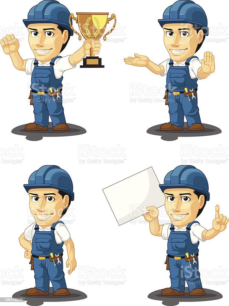 Technician or Repairman Customizable Mascot 5 royalty-free stock vector art