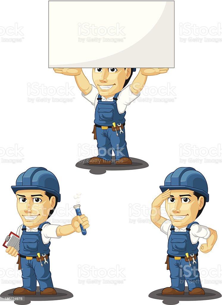 Technician or Repairman Customizable Mascot 8 royalty-free stock vector art
