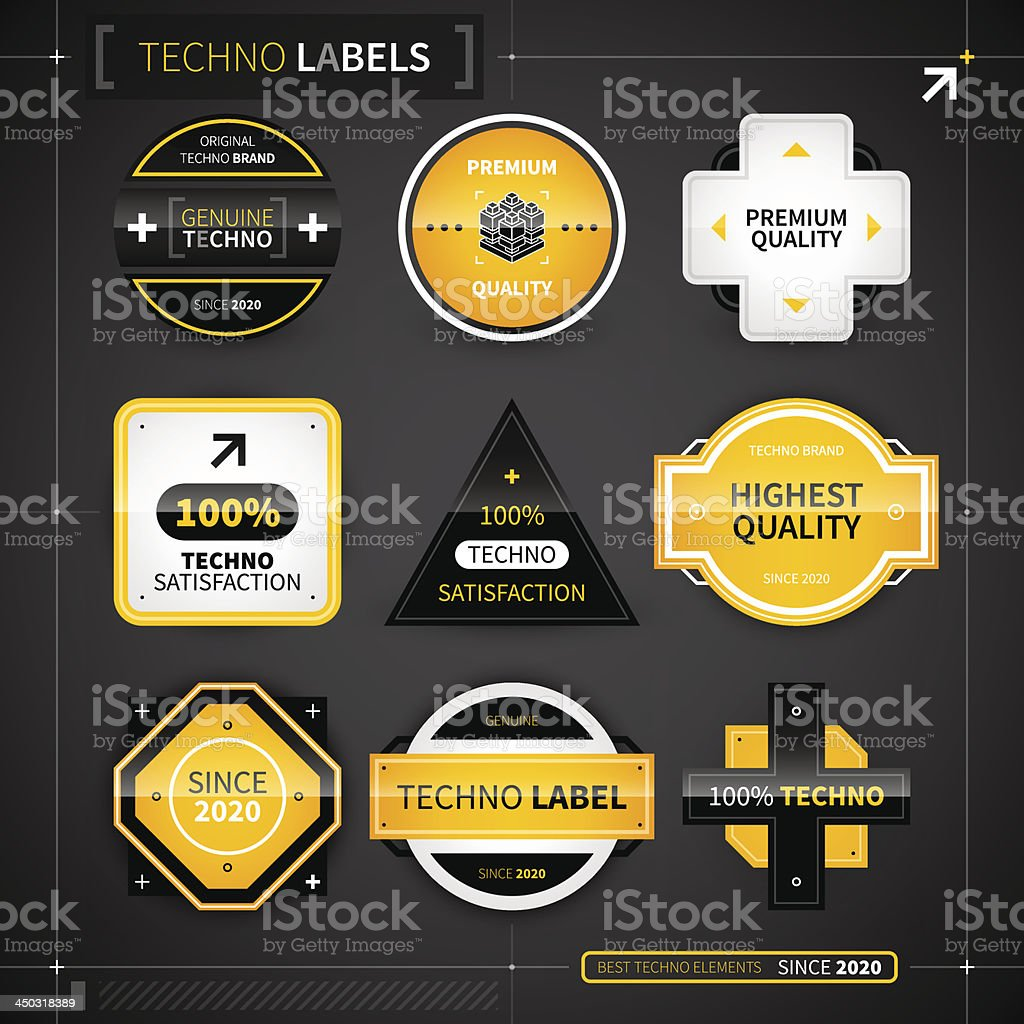 Techno background royalty-free techno background stock vector art & more images of color image