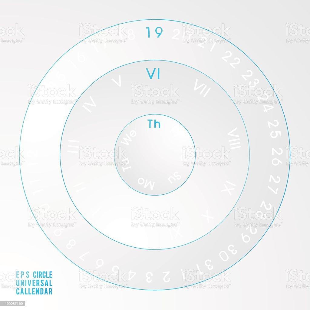techno neon universal circle calendar royalty-free stock vector art