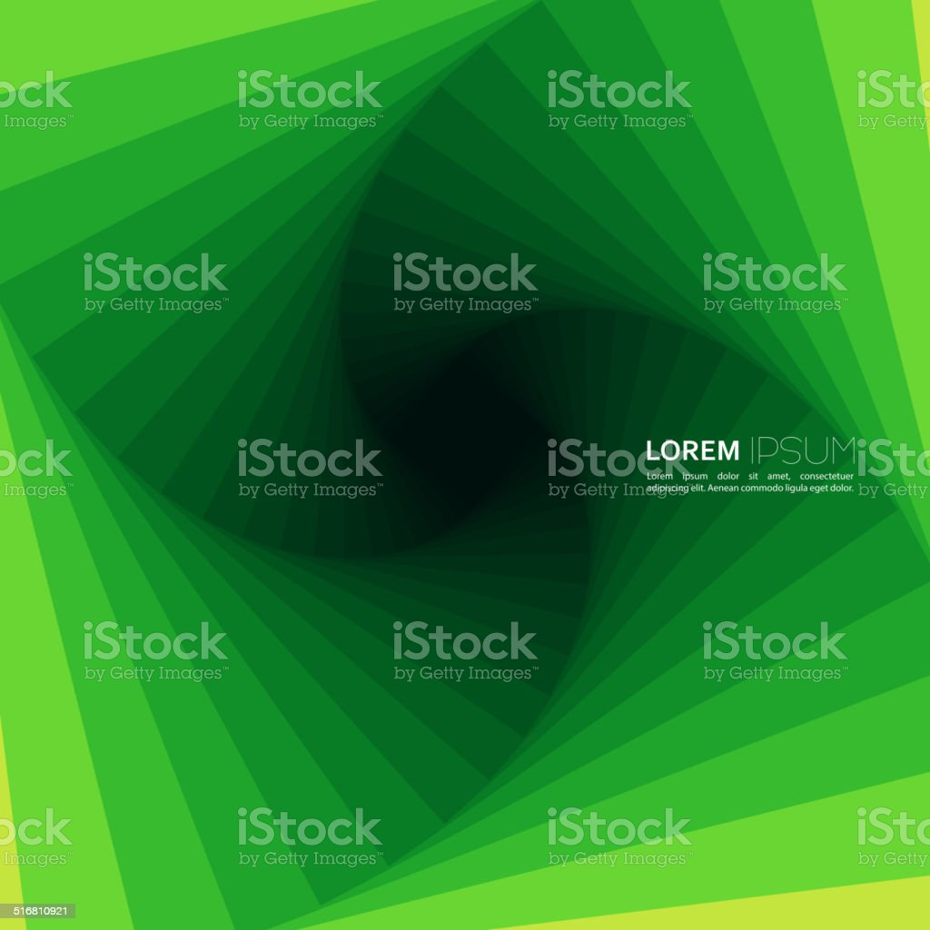 Techno vector abstract background with spiral and twist. vector art illustration