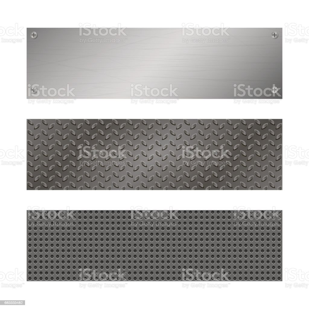 Techno vector banners. Perforated Metal background with plate and rivets. Metallic grunge texture. Brushed Steel, iron, aluminum surface. Abstract gray template for web Engineering, construction theme royalty-free techno vector banners perforated metal background with plate and rivets metallic grunge texture brushed steel iron aluminum surface abstract gray template for web engineering construction theme stock vector art & more images of abstract