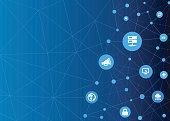 Technologic Network Dots - Internet