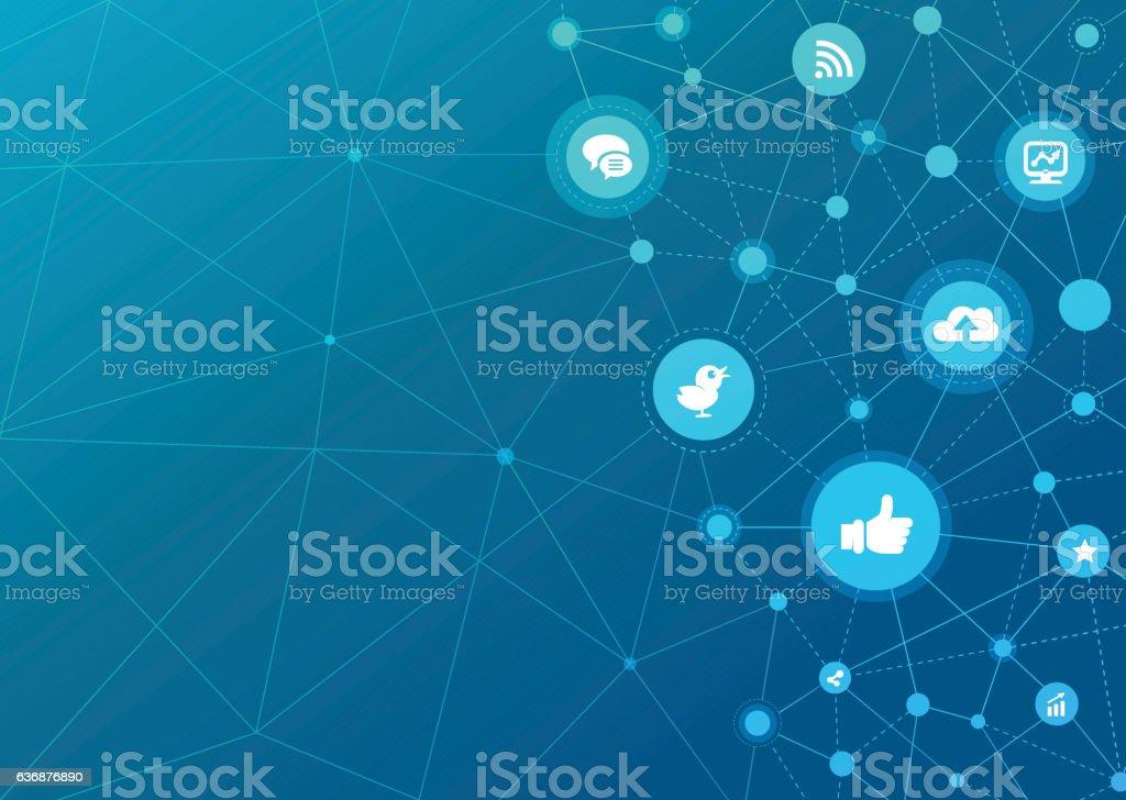 Technologic Network Dots - Social Media vector art illustration