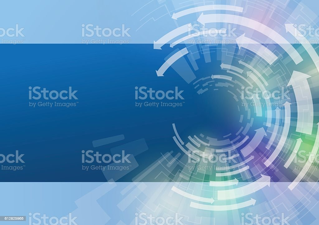 technological abstract image, concentration and rotation, vector art illustration