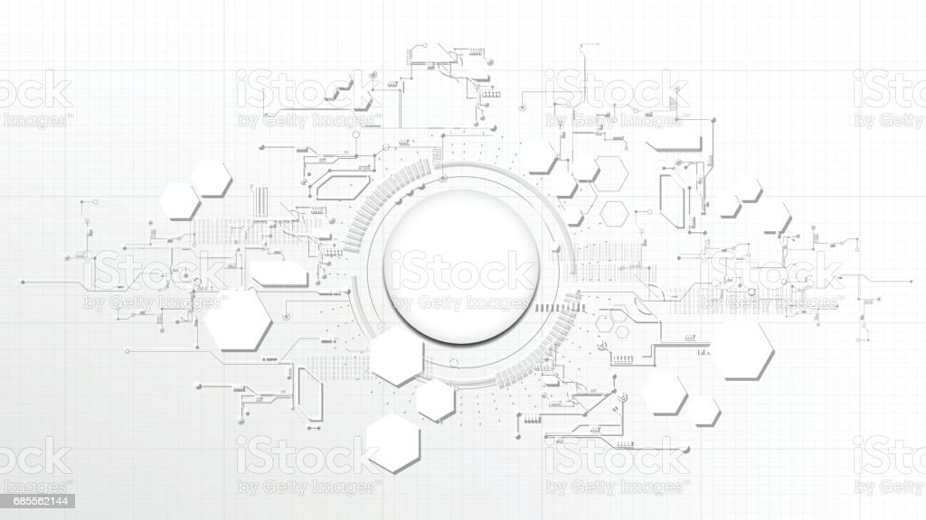 Technological abstract technical digital element board white texture background template vector vector art illustration