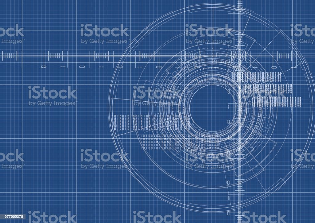 Technological blueprint digital interface background vector design technological blueprint digital interface background vector design royalty free stock vector art malvernweather Images