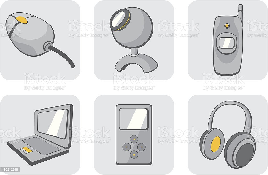 technological gadgets icons royalty-free technological gadgets icons stock vector art & more images of art