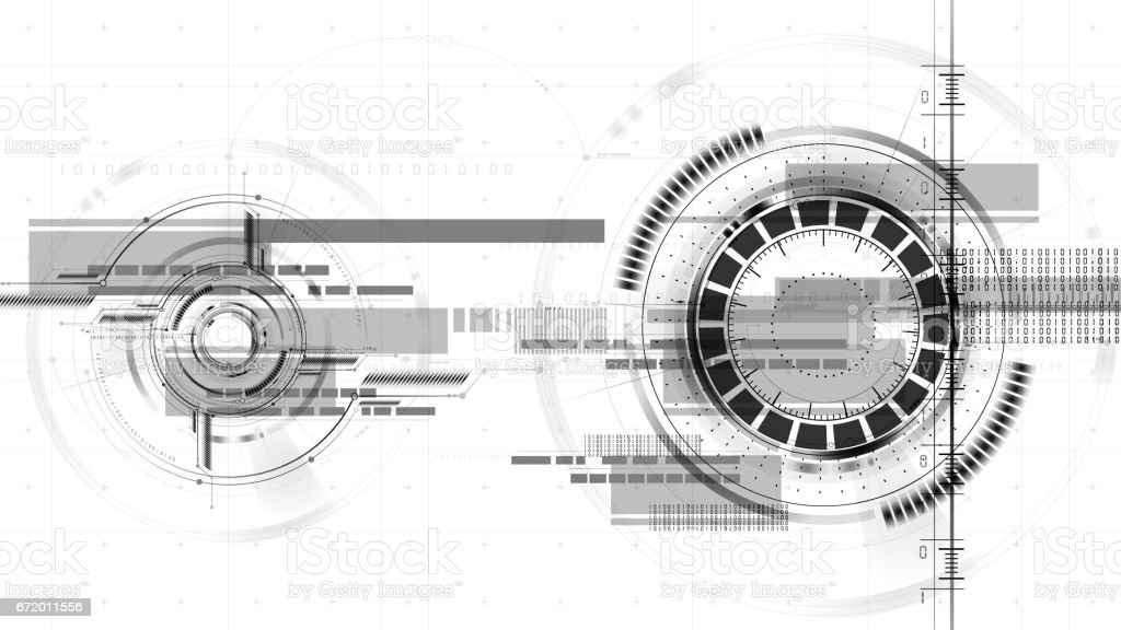 Technological space drawing interface vector background abstract vector art illustration