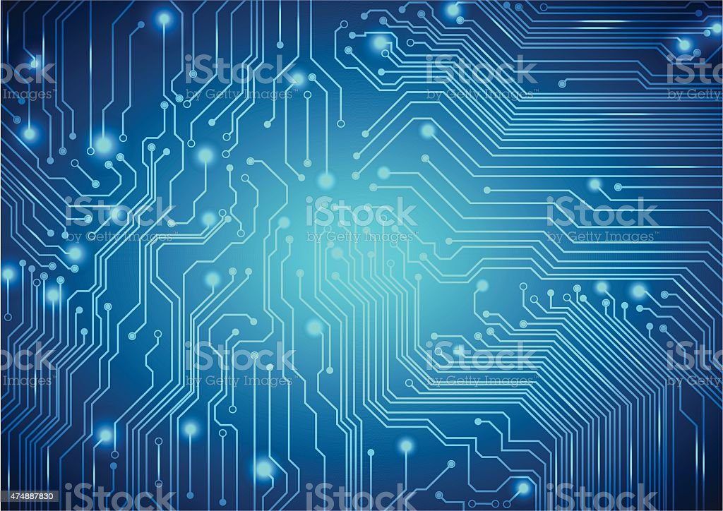 Technological vector background with a circuit board texture vector art illustration