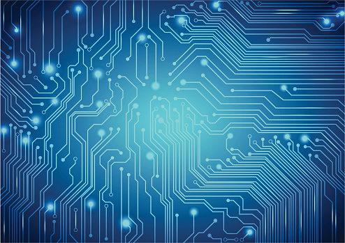Technological Vector Background With A Circuit Board Texture Stock Illustration - Download Image Now