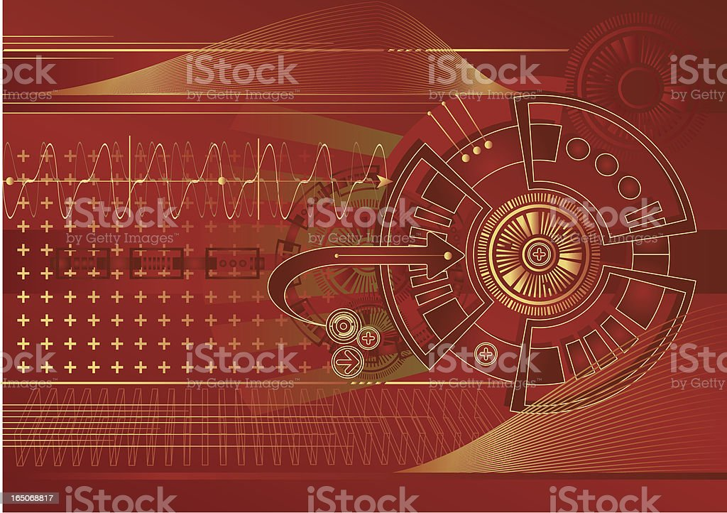 Technological Vector vector art illustration